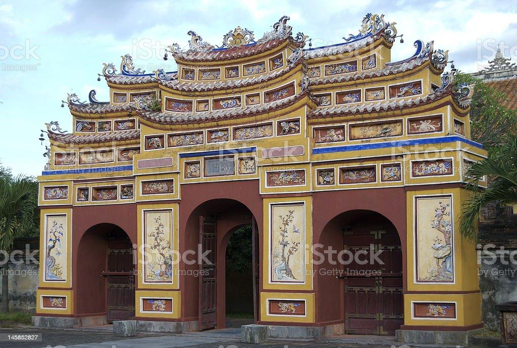 Gateway, Hue citadel, Vietnam stock photo