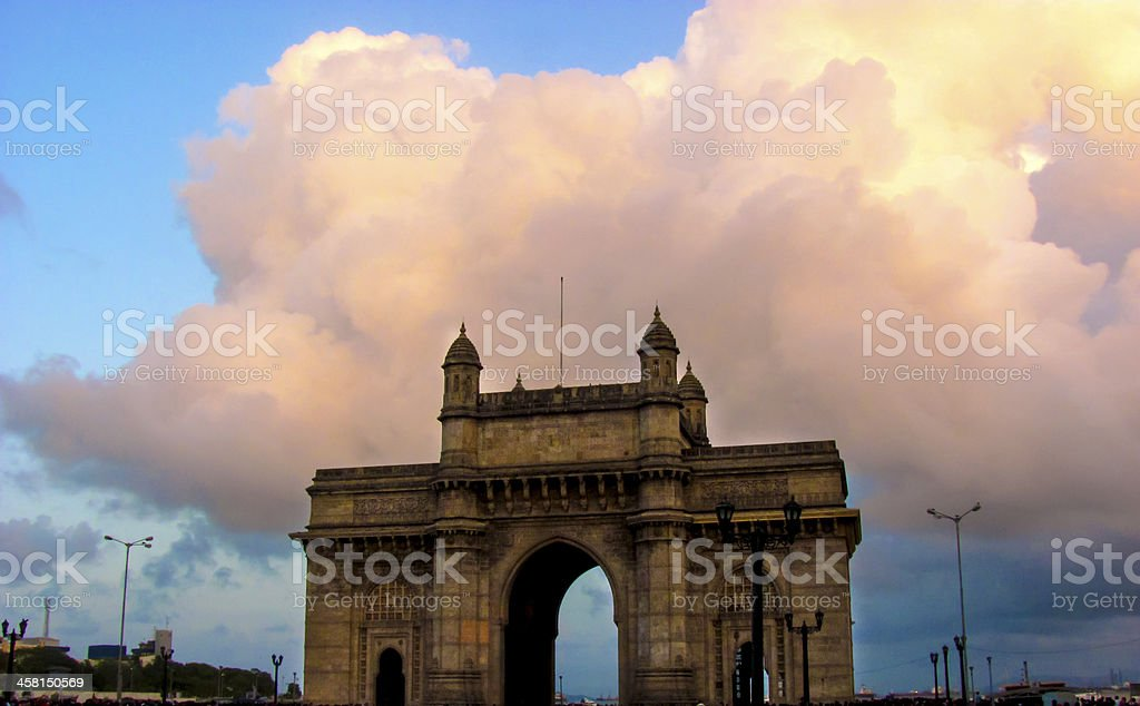 Gateway of India during monsoon stock photo