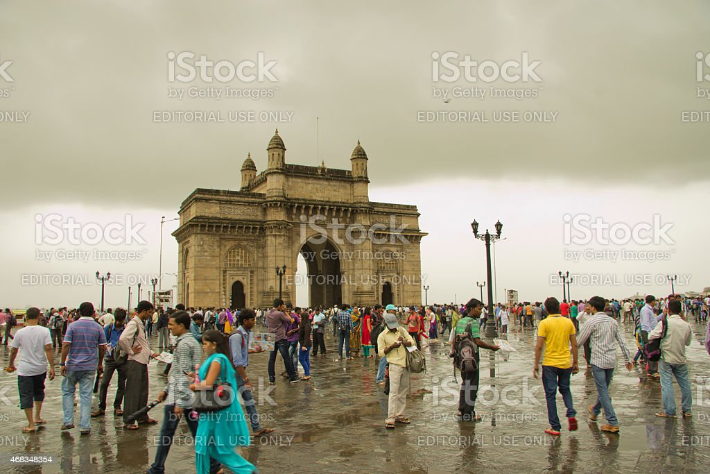 Gateway of India on a Rainy day stock photo