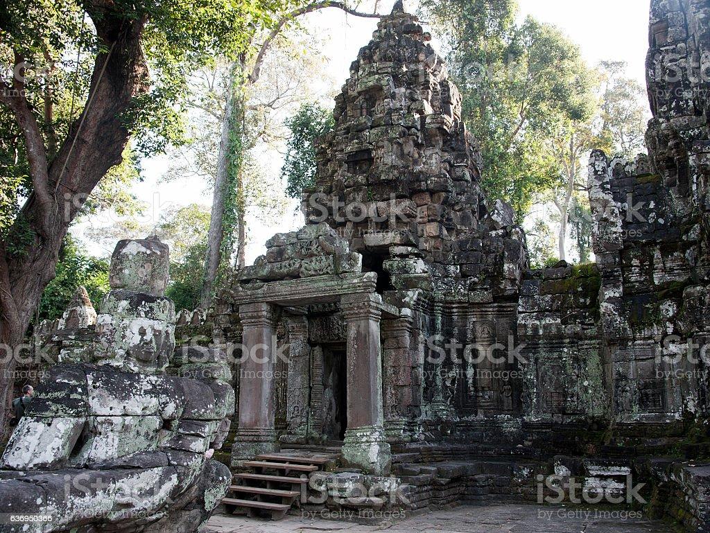 Gateway Preah Khan temple stock photo