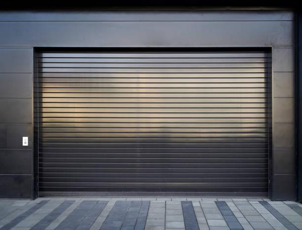 Gateway to a parking garage stock photo