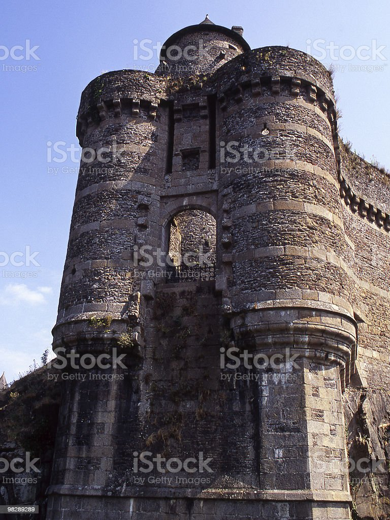 Gateway to Castle at Fourgeres. royalty-free stock photo