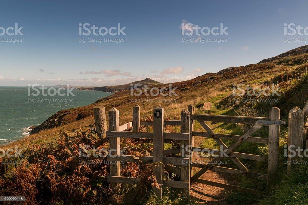 Gateway to Pembrokeshire stock photo
