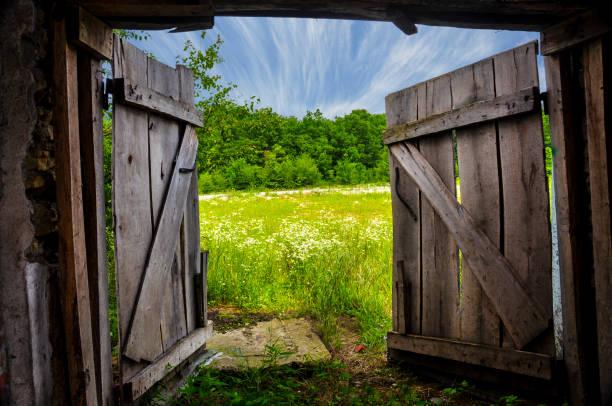 Gateway to Summer stock photo