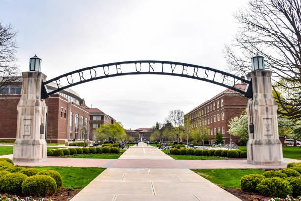 arche «gateway to the future» à l'université purdue - ncaa photos et images de collection