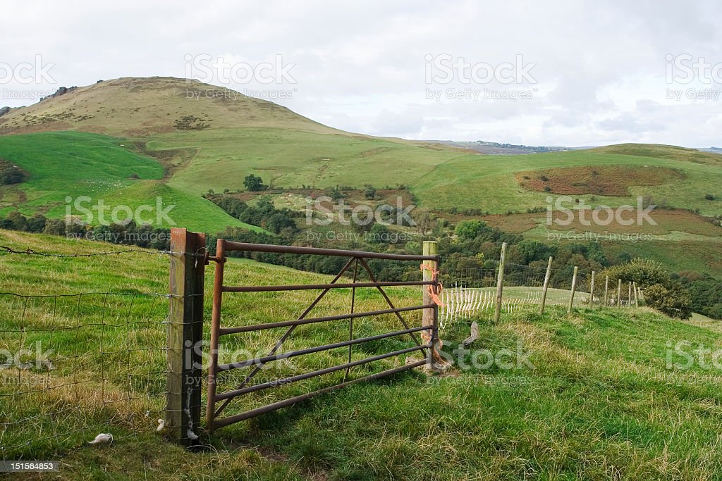 Gateway to the hills stock photo