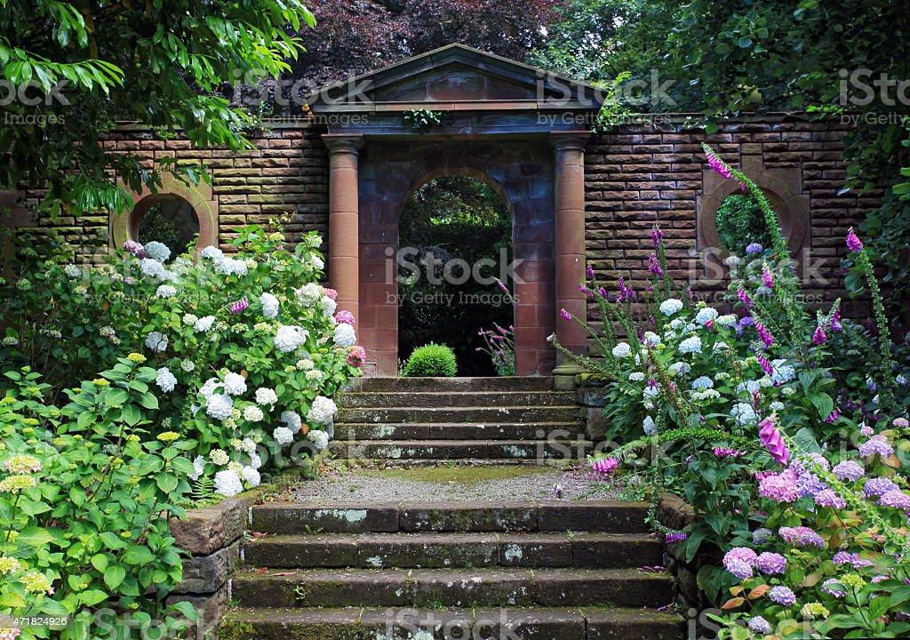 Gateway To The Secret Garden stock photo