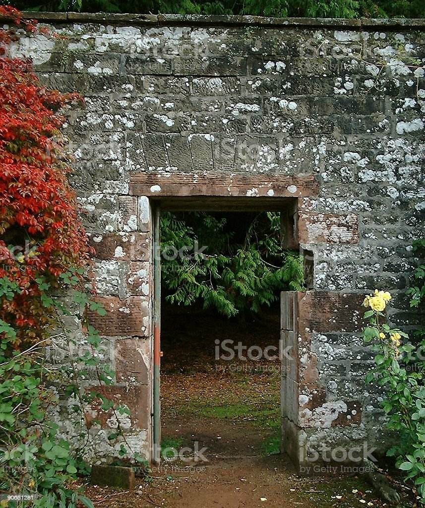 Gateway to the Secret Garden royalty-free stock photo