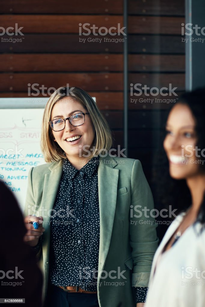 Gathered for a business cause stock photo