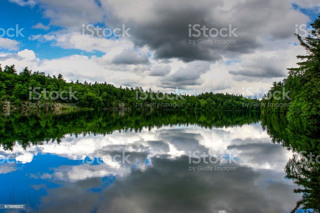 Gatineau Pink Lake stock photo