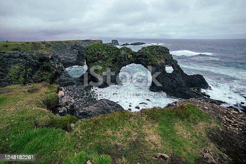 istock Gatklettur Arch, Iceland 1248182261