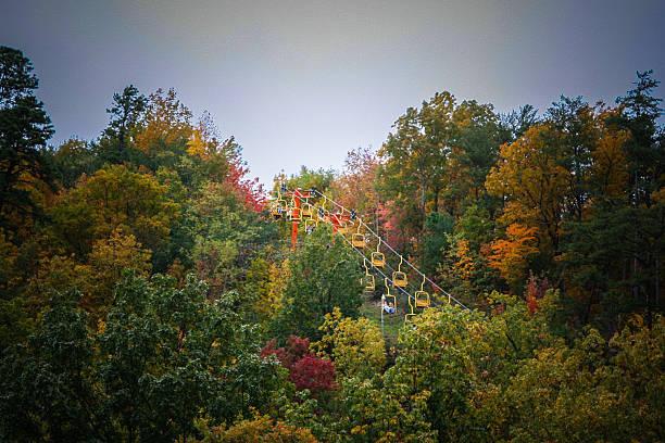 Gatlinburg, TN Sky Lift stock photo