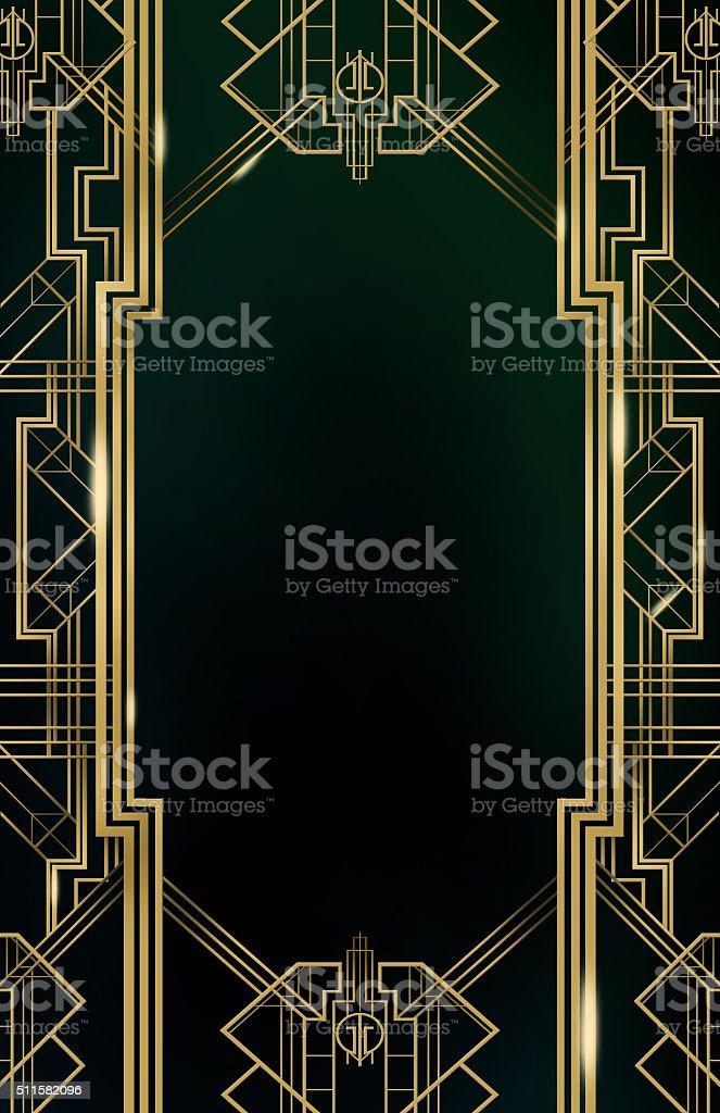 Gatsby Art Deco Background stock photo