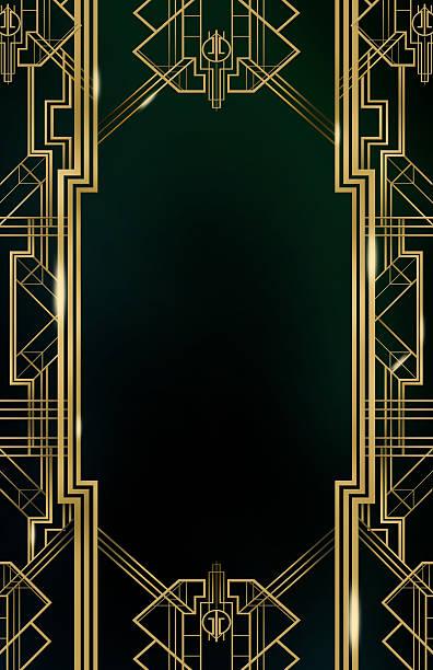 gatsby 아르데코 배경기술 - 초대장 뉴스 사진 이미지