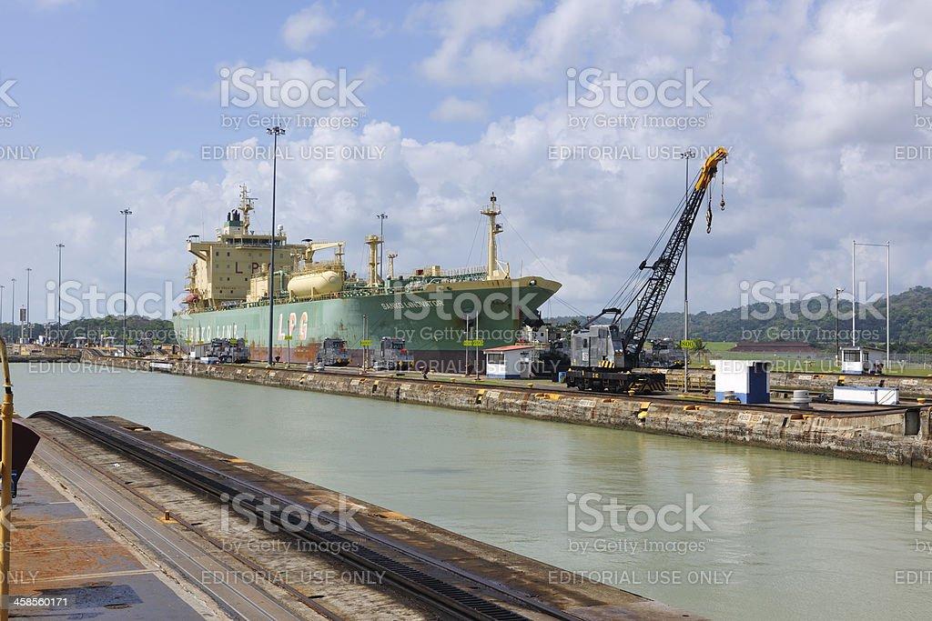 Gatun Locks, Panama Canal royalty-free stock photo