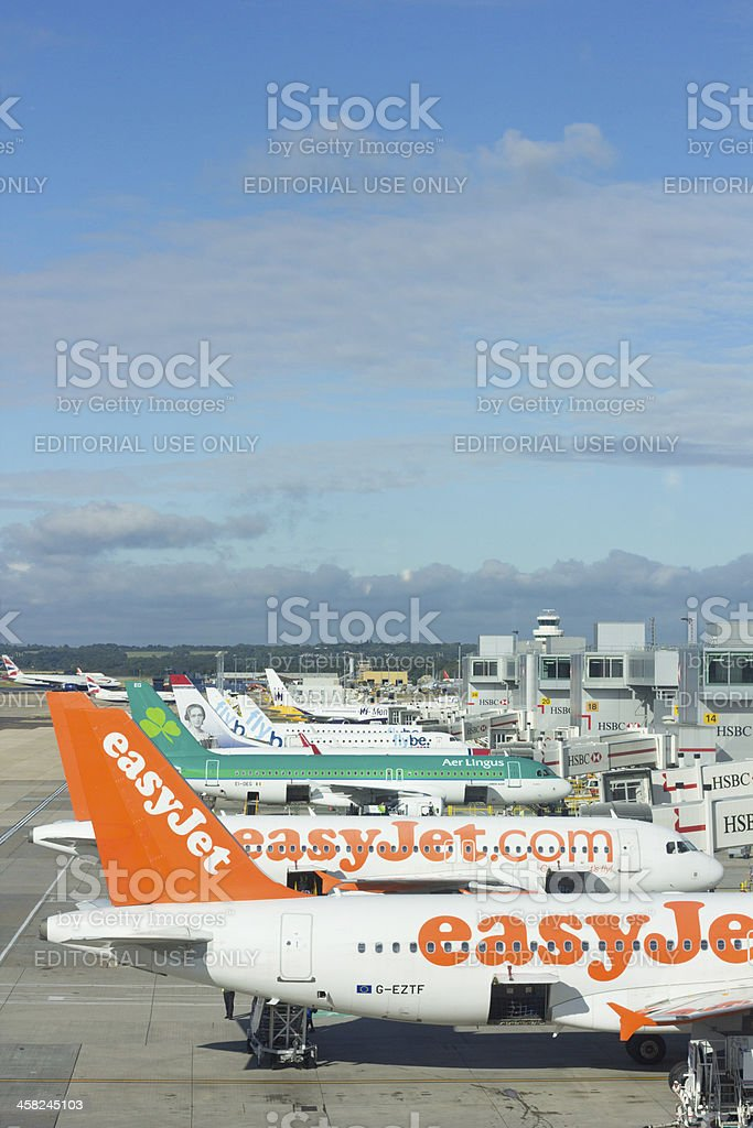 Gatwick Airport in Surrey, England royalty-free stock photo