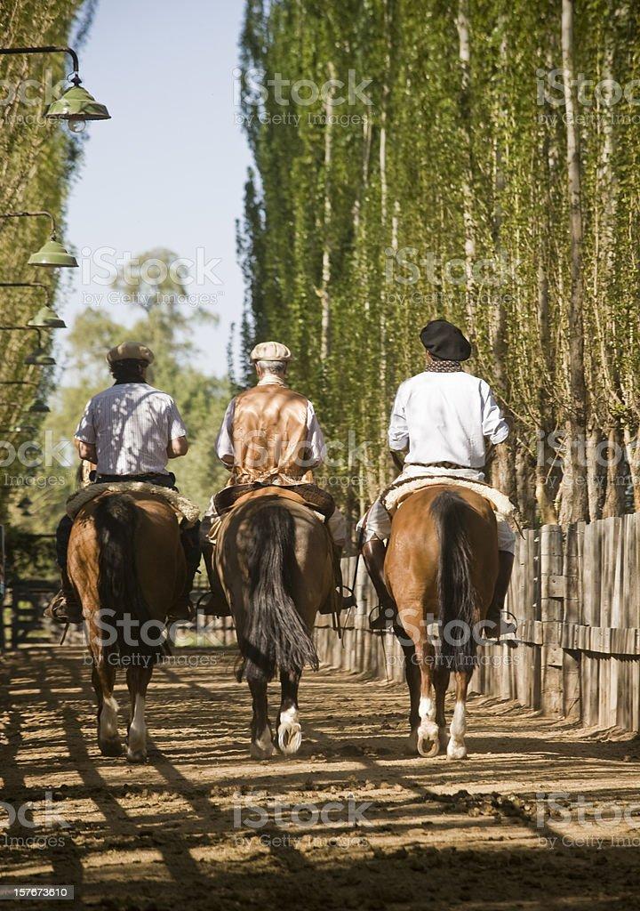 Gauchos royalty-free stock photo