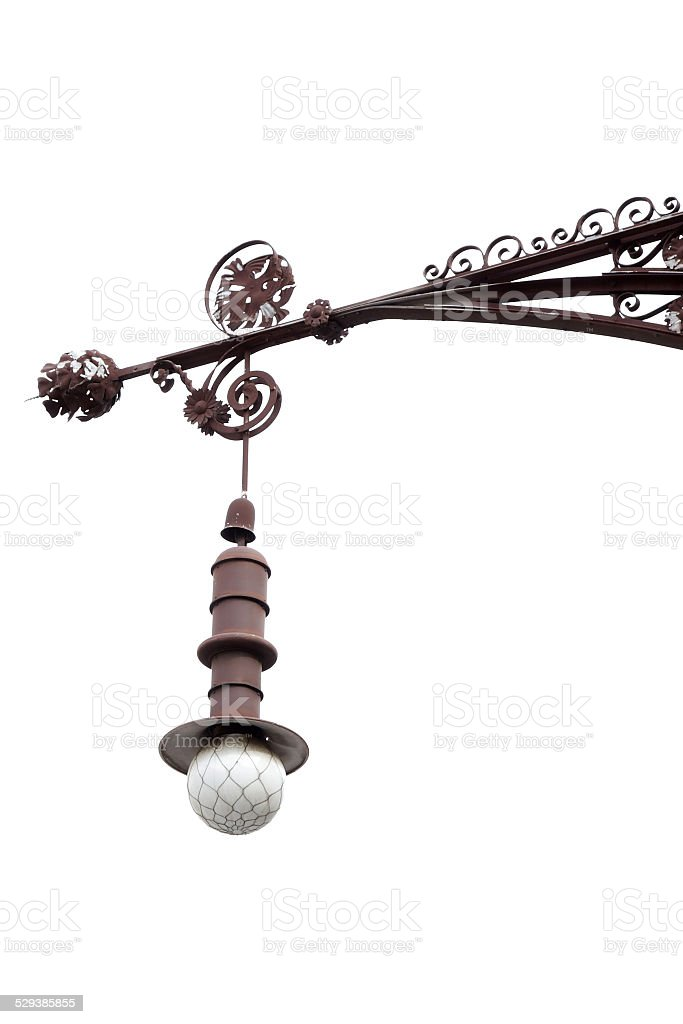 gaudi antoni barcelona lantern stock photo
