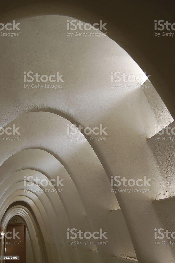 Gaudi Arches, Barcelona royalty-free stock photo