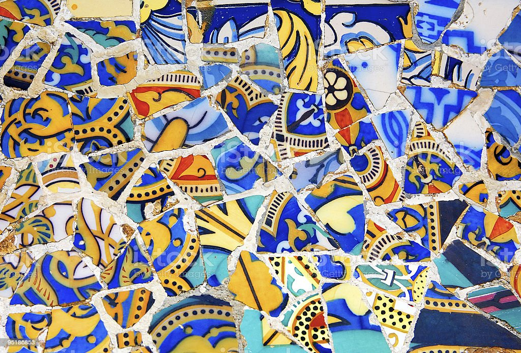 Gaudi Architecture - Park Guell stock photo