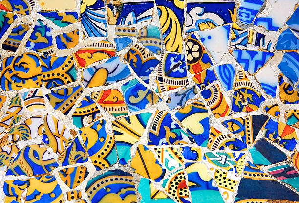 Gaudi Architecture - Park Guell  casa batllo stock pictures, royalty-free photos & images