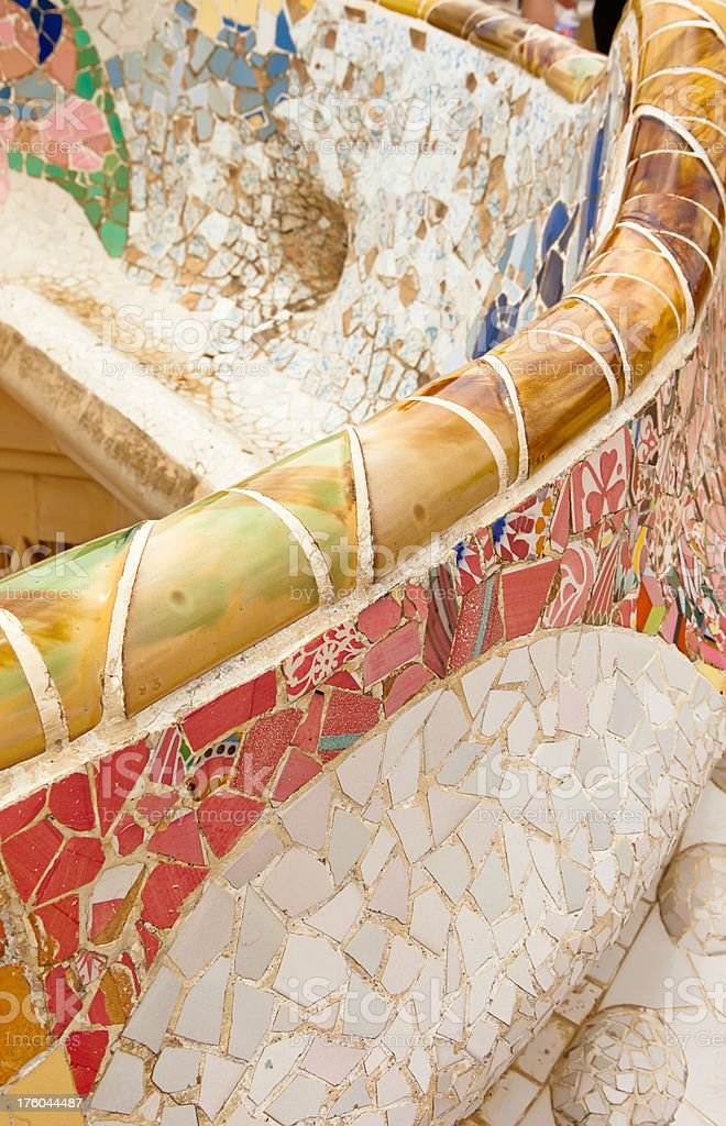 Gaudi art, Parc Guell royalty-free stock photo