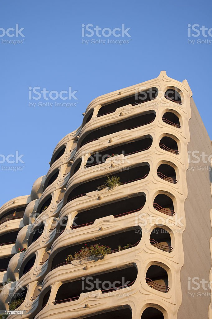 Gaudi building royalty-free stock photo