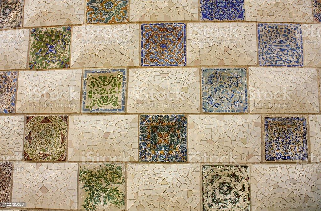 Gaudi Mosaic. royalty-free stock photo