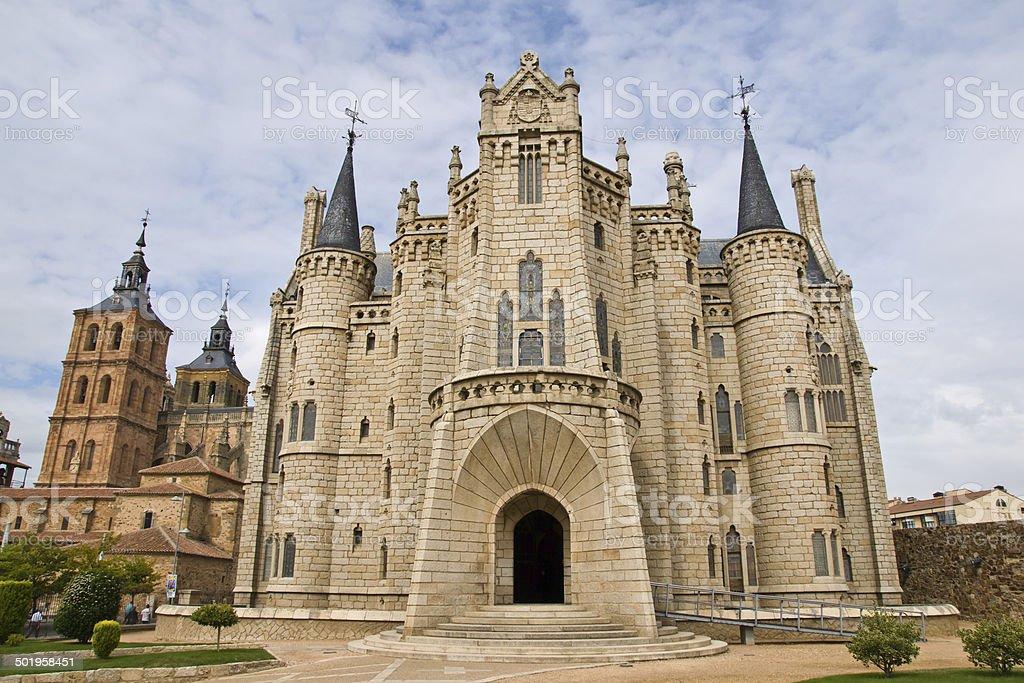 Gaudi palace in Astorga, Leon, Spain stock photo