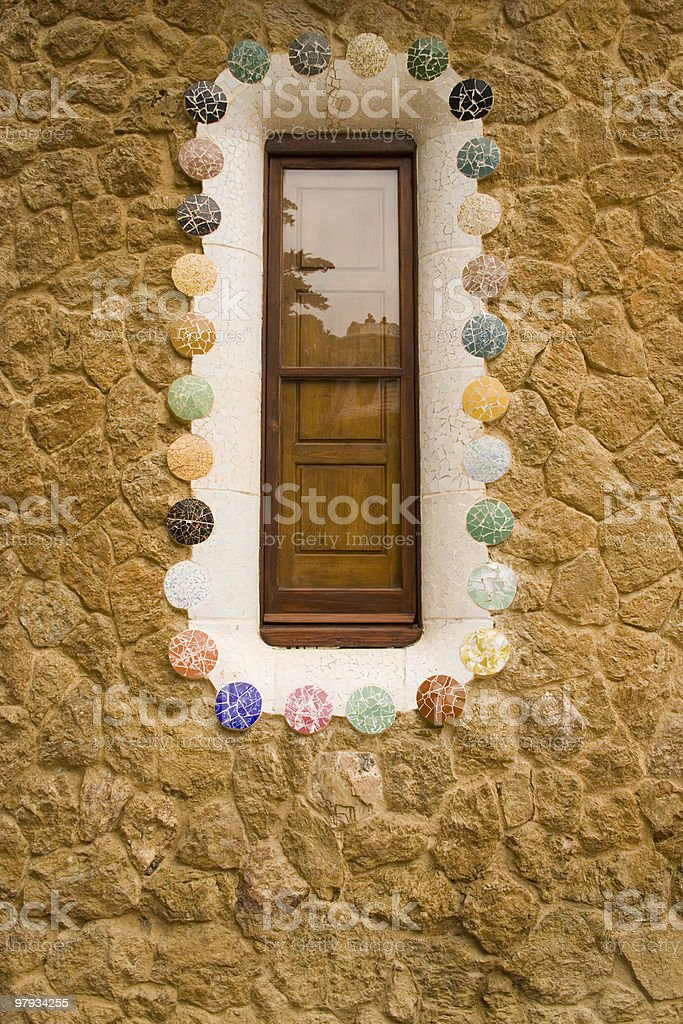 Gaudi window royalty-free stock photo