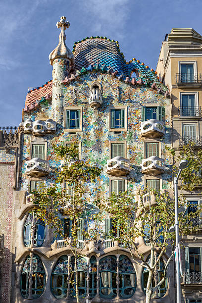 Gaudi's Casa Batllo in Barcelona, Spain Barcelona, Spain - September 25, 2015: View of Gaudi's Casa Batllo in Barcelona as seen on 25th of September,2015. casa batllo stock pictures, royalty-free photos & images