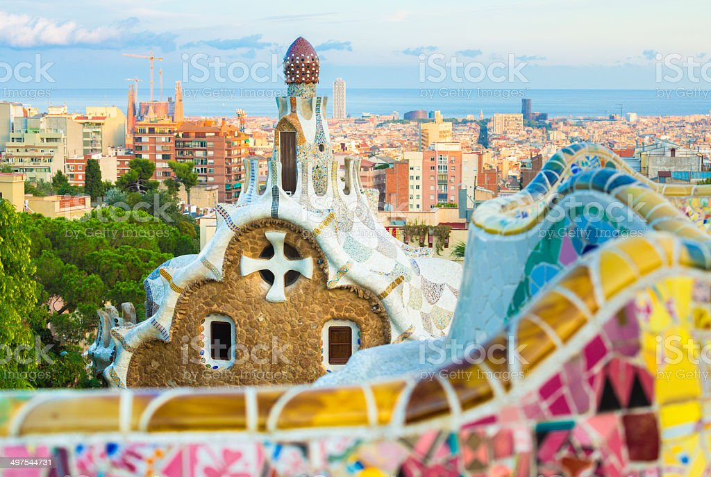 Gaudi's Park Guell in Barcelona stock photo