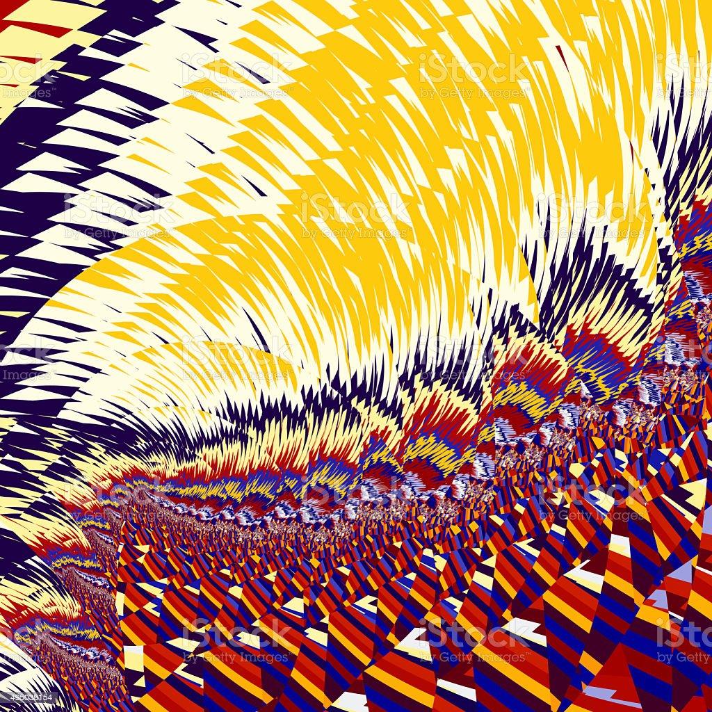 Fractal pattern Van Gogh landscape stock photo