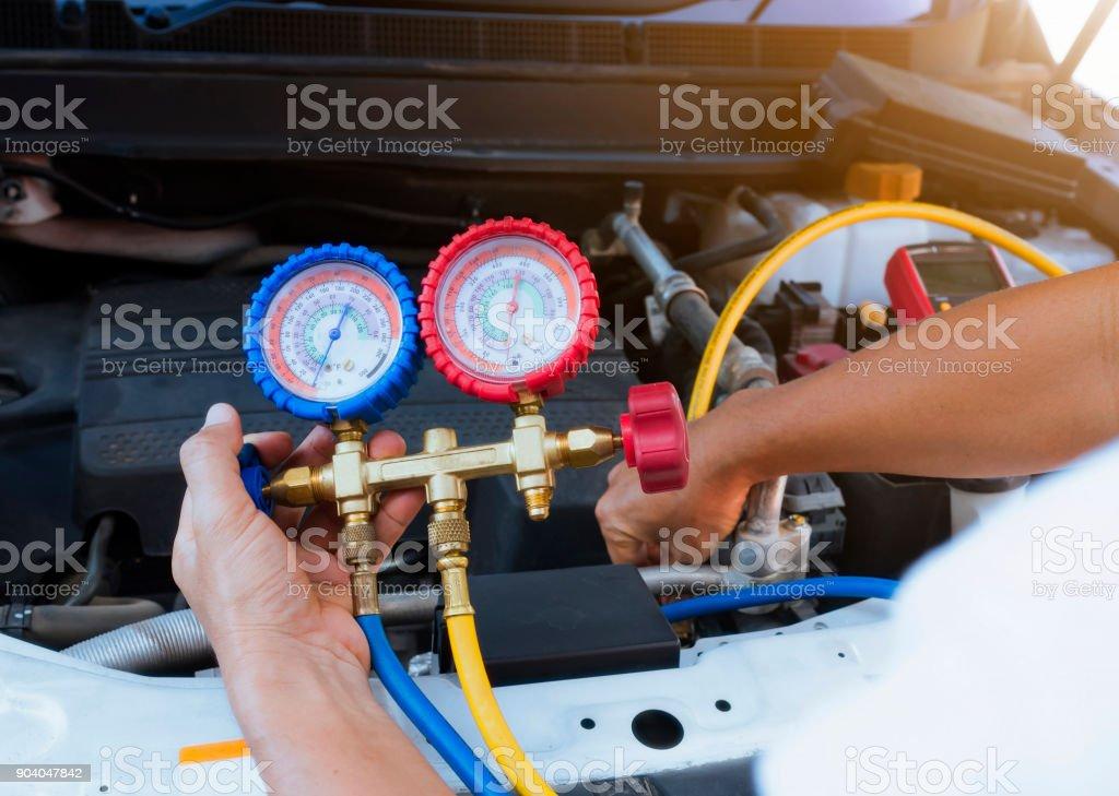 Manometer mit Klimaanlage – Foto