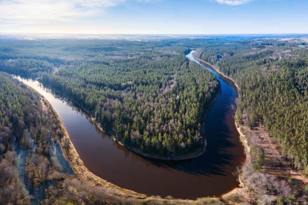 Gauja National Park stock photo