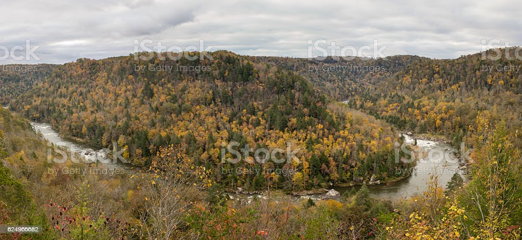 Gauley River from Carnifex Ferry Battlefield stock photo