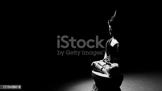 A stunning black and white Wallpaper of Gautam Buddha.