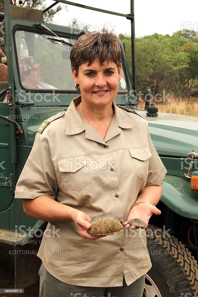 Gauteng Department of Nature Conservation representative showing stock photo