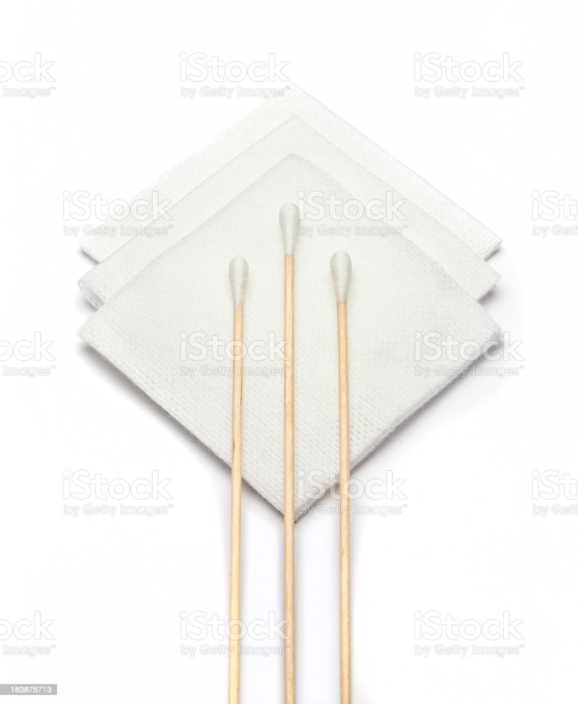 Gauze and swabs royalty-free stock photo
