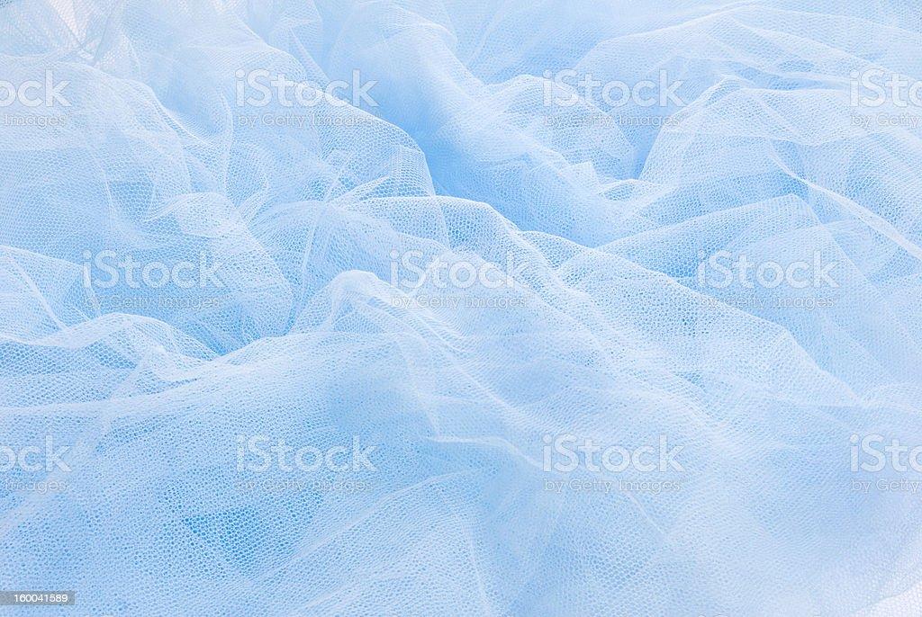 Gauze blue fabric royalty-free stock photo