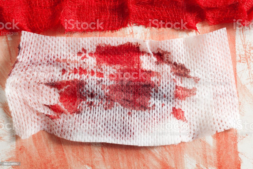 Gauze with blood royalty-free stock photo