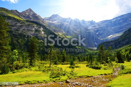 istock Gavarnie Circus in the Pyrenees national park. France. 1245771089