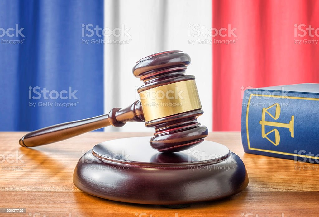 Gavel and a law book - France stock photo
