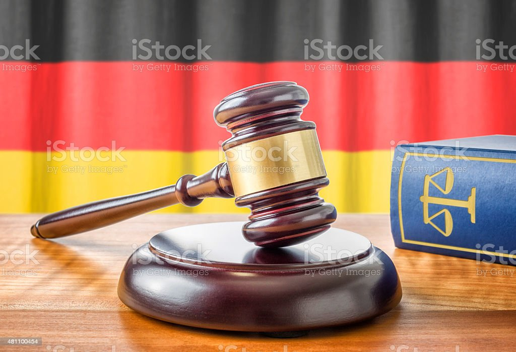 Gavel and a law book - Germany stock photo
