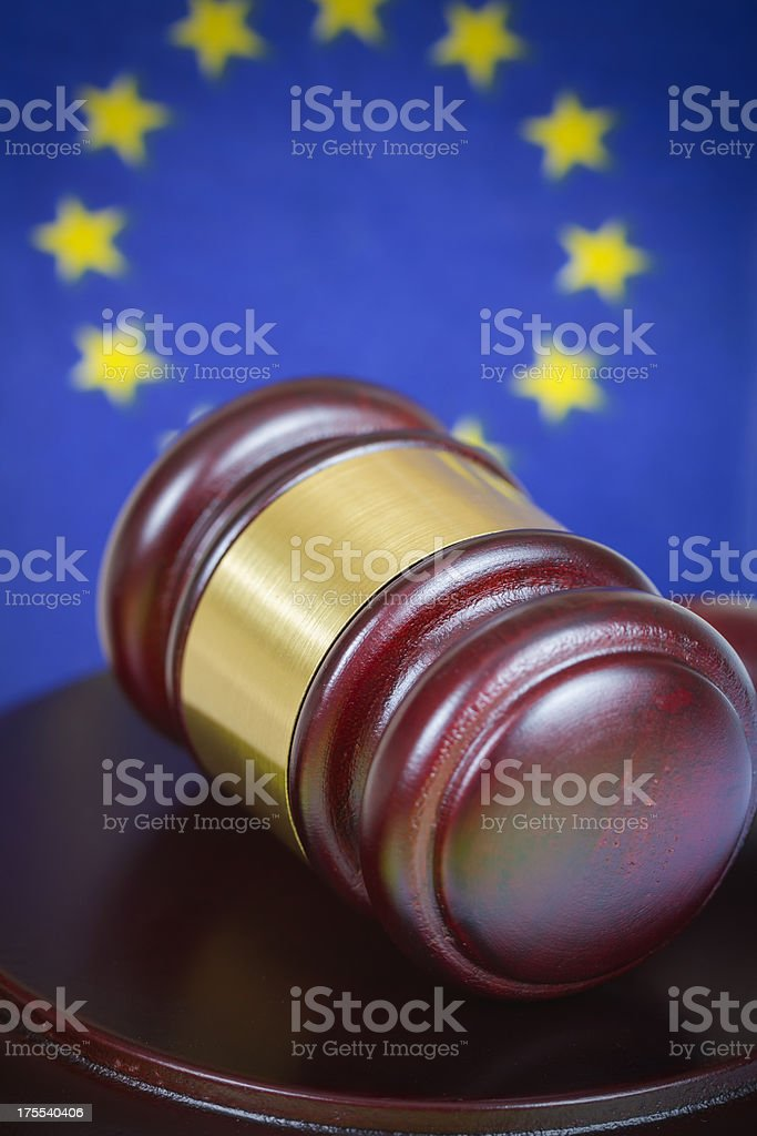 Gavel and EU royalty-free stock photo