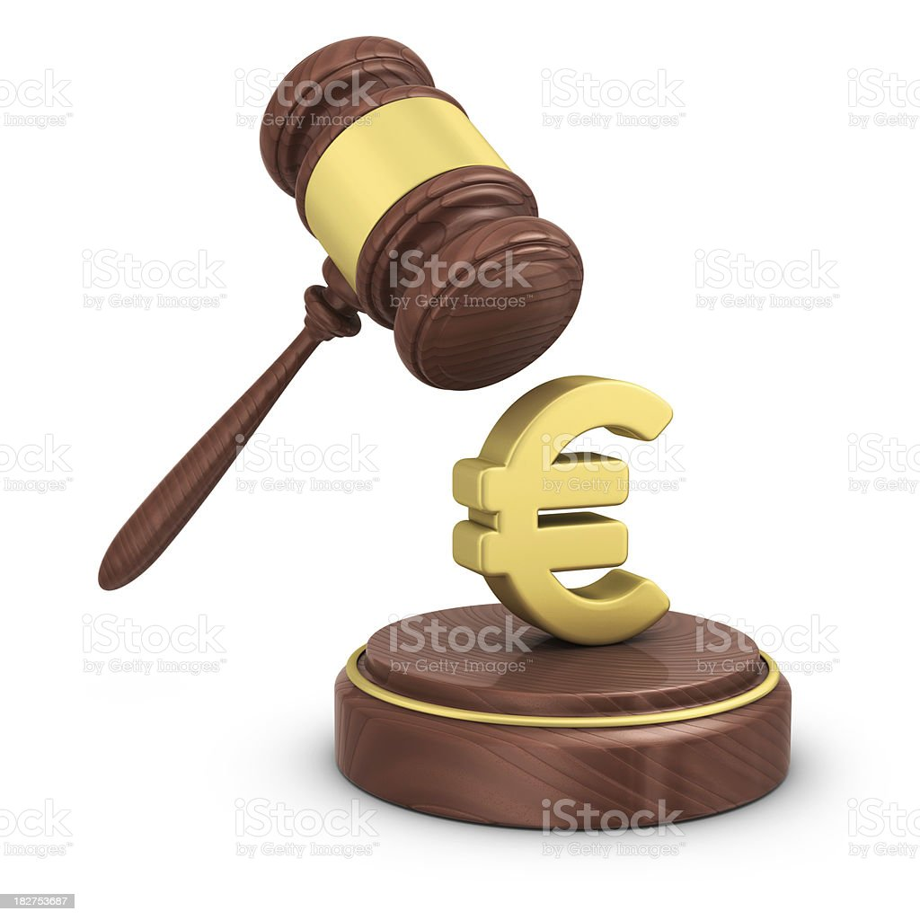 gavel and euro royalty-free stock photo