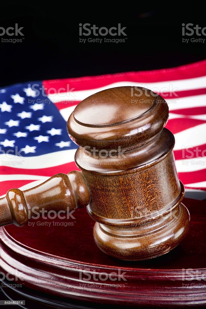 Gavel and Justice. stock photo