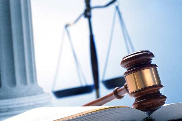 Gavel And Justice Scale stock photo