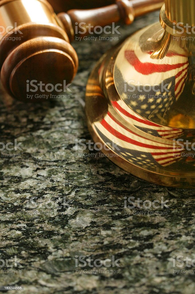 Gavel and Justice Scale royalty-free stock photo