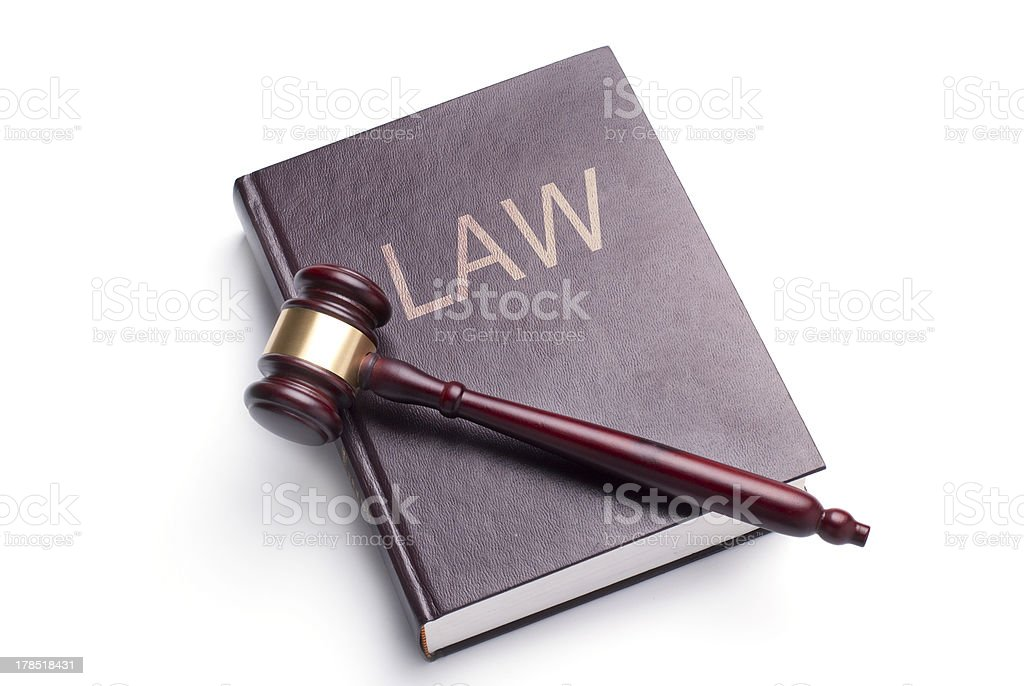 gavel and law royalty-free stock photo